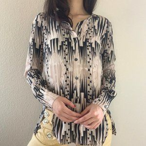 Derek Lam Abstract Print Blouse